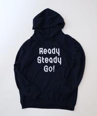 [READY STEADY GO]  Logo Hoody (Navy/White)