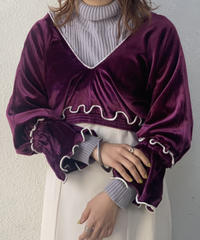 【RE;CIRCLE】 Mellow Velour top ② /210113-002