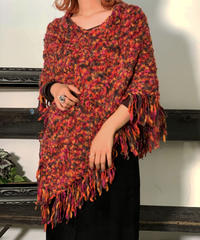【Used】Knit  Poncho / 201006-006
