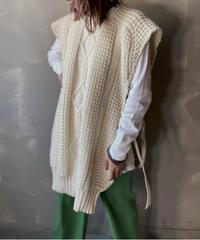 【RE;CIRCLE】Cable Knit Vest ② / 201112-017