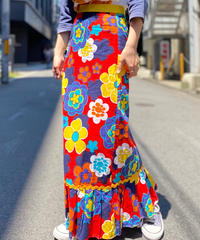 【Used】Vintage Flower Pattern Long Skirt