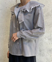 【Used】L/S Rame Stripe Blouse / 200911-013