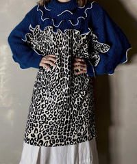 【RE;CIRCLE】 Mellow Leopard Switching Knit /201202-013