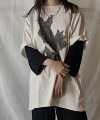 【USED】S/S T-shirt DOG② /210604-005