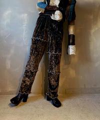 【RE;CIRCLE】Mellow Velor Lace Pants 4  / 201103-017