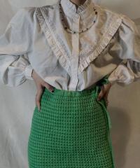 【USED】White Cotton Blouse Shirt/210217-063