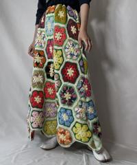 【RE;CIRCLE】 RE Granny Knit Long Skirt⑧/211014-028
