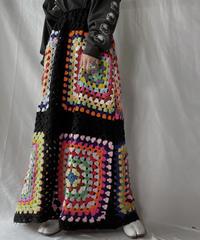 【RE;CIRCLE】 RE Granny Knit Long Skirt②/211014-013