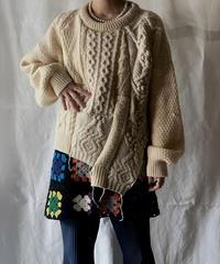 【RE;CIRCLE】 Patchwork Aran Knit Sweater /210130-001