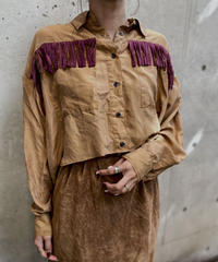 【RE;CIRCLE】L/S Silk Fringe Shirt/ 14
