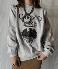 【USED】  90's USA Champion Reverse Weave Sweat CHICAGO/210902-012