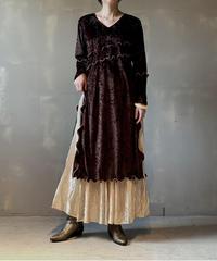【RE;CIRCLE】L/S Mellow Velor Dress / 201103-003