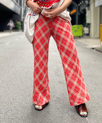 【Used】Argyle Check Flare Pant RED
