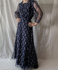 【USED】  Plant Patterned Lace EURO Dress/210407-021