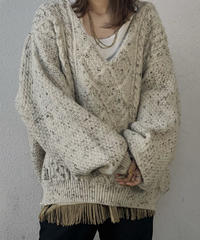 【RE;CIRCLE】 Remake Aran Knit Mexican Parker ② /210113-016
