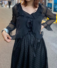 【Used】See-through  Open Shirt  BLK
