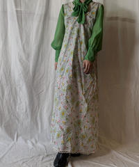 【USED】 Flower Pattered Poly N/S Dress/210331-029