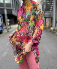 【Used】See-Through Flower Pattern Tops