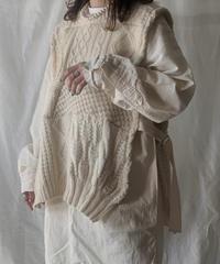 【RE;CIRCLE】 Patchwork Knit Vest ① /210210-001