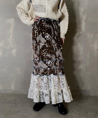 【RE;CIRCLE】 Mellow  Velour × Lace Skirt ② / 201212-010
