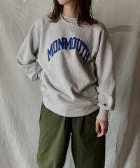 【USED】 90's USA  Champion Reverse Weave Sweat MONMOUTH / 210127-010