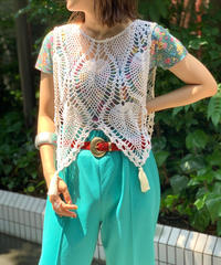 【RE;CIRCLE】Crochet Lace  Poncho