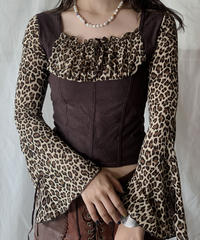 【USED】 Leopard Patterned Top/210526-030