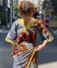 【Used】African Batik Tops 2  /200531-021