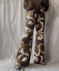 【RE;CIRCLE】 RE Antique Curtain Flare Pants①/ 210613-007