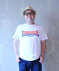 LONSDALE FLOCKY PRINT T-SHIRT(00 WHITE)
