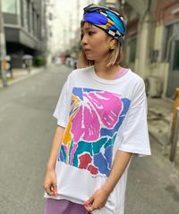 【Used】Short Sleeve T-Shirt Flower Printed