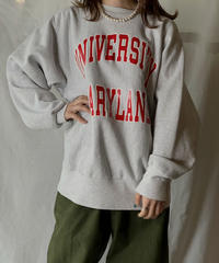 【USED】 90's USA  Champion Reverse Weave Sweat MARYLAND / 210127-008