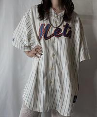 【USED】 Baseball Uniform Shirt Mets/210805-026