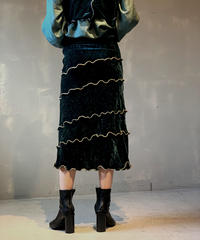 【RE;CIRCLE】Mellow Velor Skirt / 201103-007