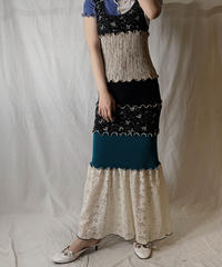 【RE;CIRCLE】  RE Spandex Mellow N/S Dress②/210521-007