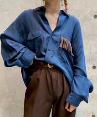【RE;CIRCLE】L/S Silk Fringe Shirt/ 11