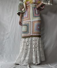 【RE;CIRCLE】 RE Granny × Crochet Long Skirt②/211014-022