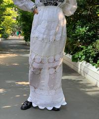 【RE;CIRCLE】Crochet Lace Long Skirt