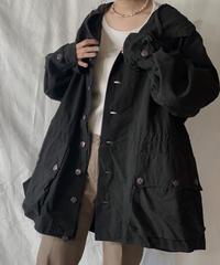 【USED】 Dyed Black Swedish Snow Hoodie /210310-013