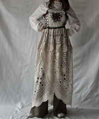 【RE;CIRCLE】 RE Granny × Crochet N/S One-piece②/211014-018