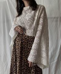 【RE;CIRCLE】 RE Crochet L/S Top②/210611-019