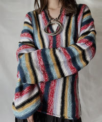 【USED】  Crochet Knit L/S Top ②/211014-035