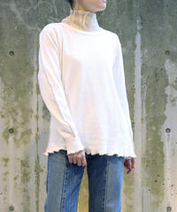 【Remake】 Thermal Top (White/Beige)
