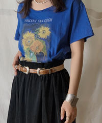 【USED】S/S T-shirt Flower①/210604-024