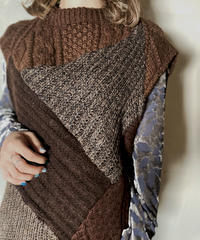 【RE;CIRCLE】 Patchwork Knit Vest ② /201125-013
