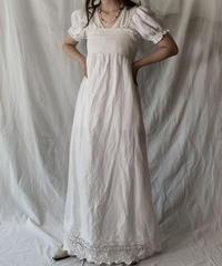 【USED】 White Cotton Camisole Dress②/210421-010