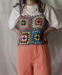 【NEW】 Granny Knit Bustier④/210421-023