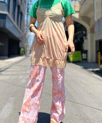 【Used】Poly Pattern Flared Pants 2