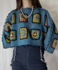 【RE;CIRCLE】 RE Granny Knit Top②/211014-002