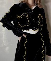 【RE;CIRCLE】 Mellow Velour Short Shirt ② /201212-022